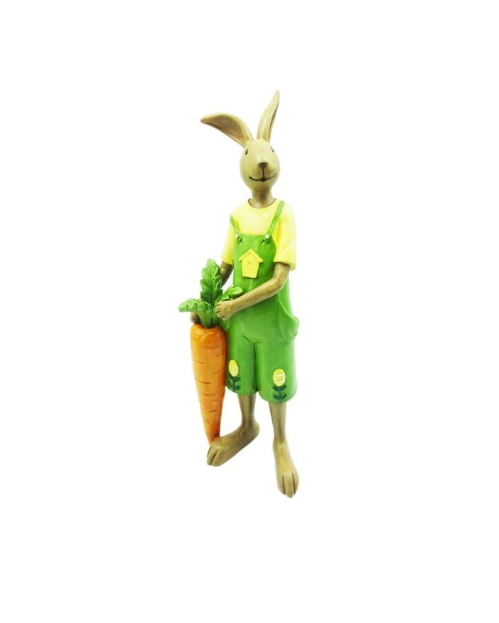 Mr Rabbit With Carrot Outdoor Sculpture