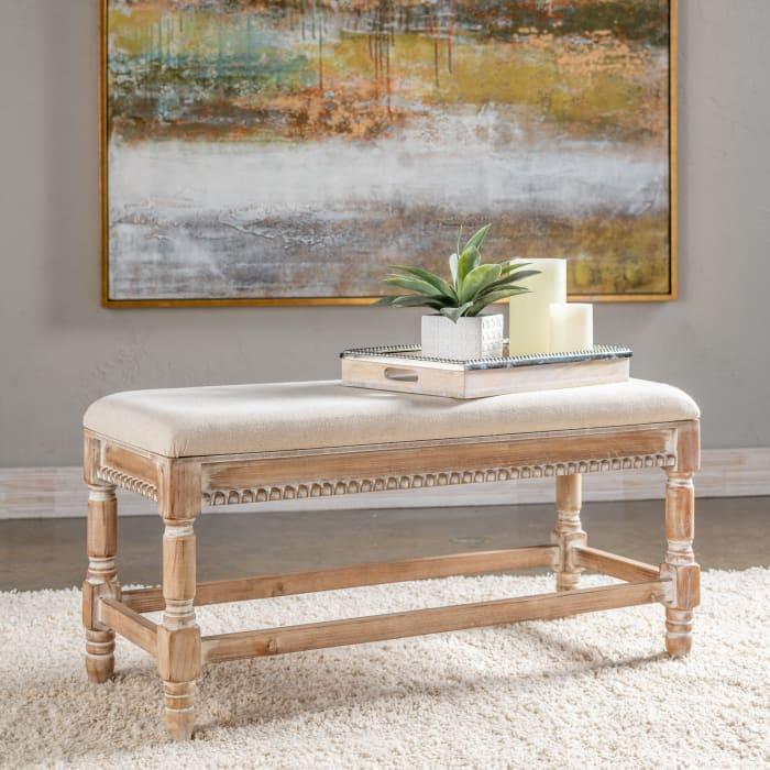 Prescott Upholstered Wooden Bench