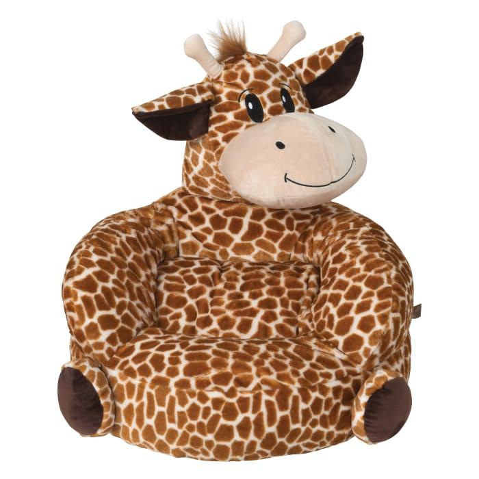 Children's Plush Giraffe Character Chair