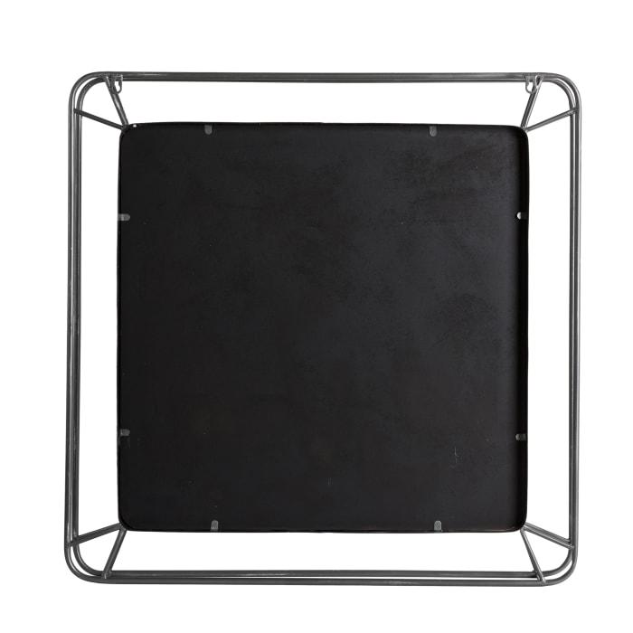 Square Metal Wall Mirror