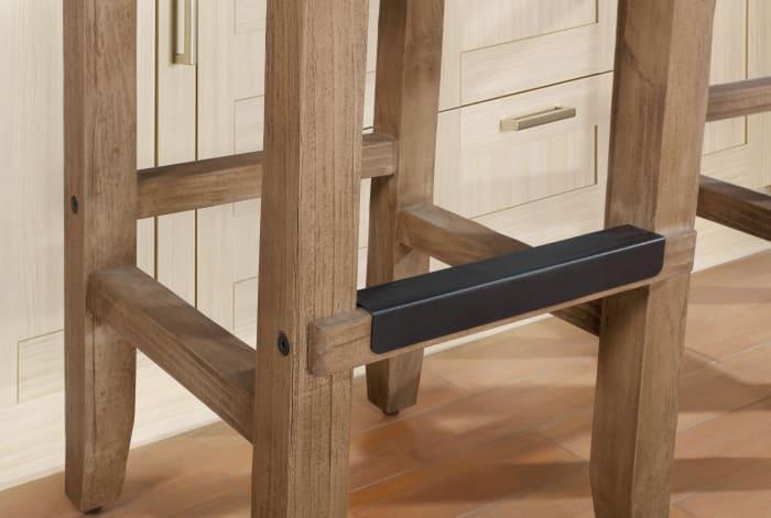 Newport Rush Seat Wood Counter Height Stool