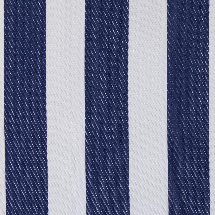 Navy/White Stripe Outdoor Floor Rug