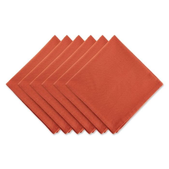 Spice Solid Set of 6 Napkins