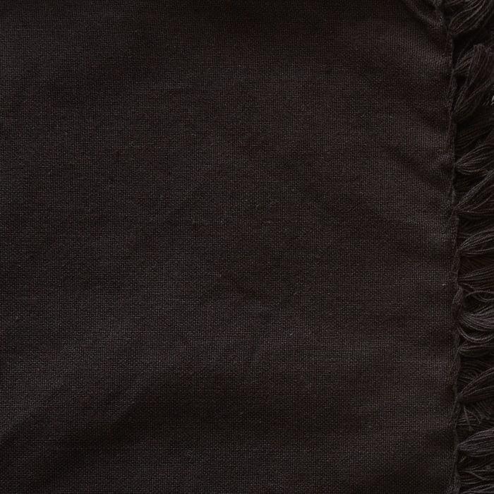 Black Fringed Set of 6 Napkin