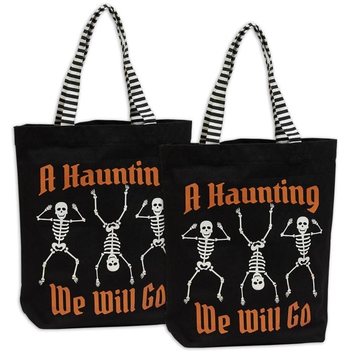 Halloween Collection, Tote Bag Set, Skeletons 2 Piece