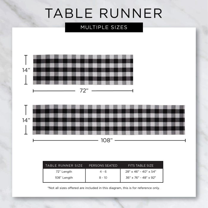 Navy & White 2-Tone Ribbed Table Runner