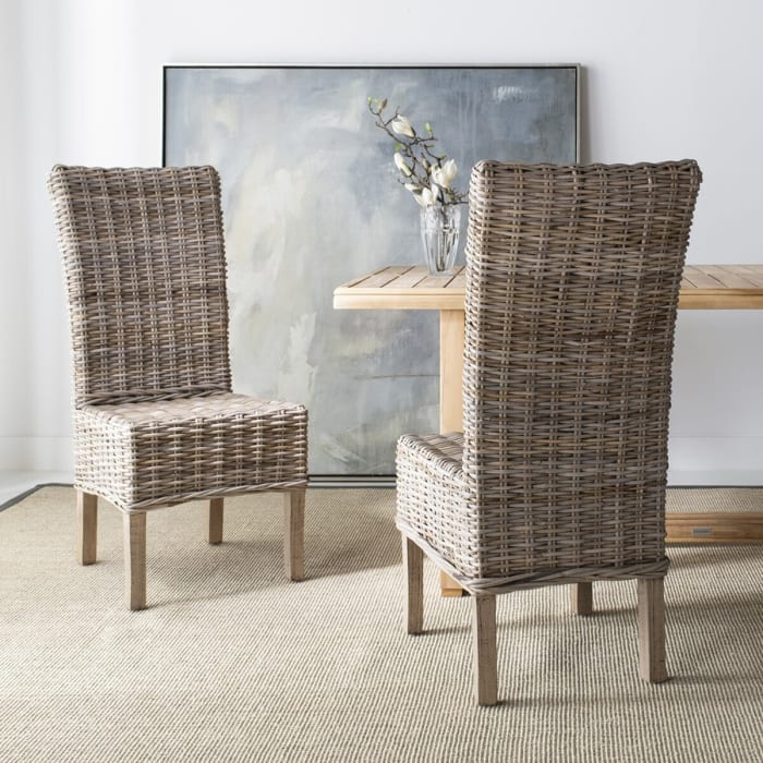 Walter Rattan Natural Side Chair