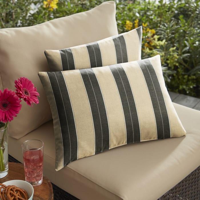 Sunbrella Berenson Tuxedo Set of 2 Outdoor Pillows