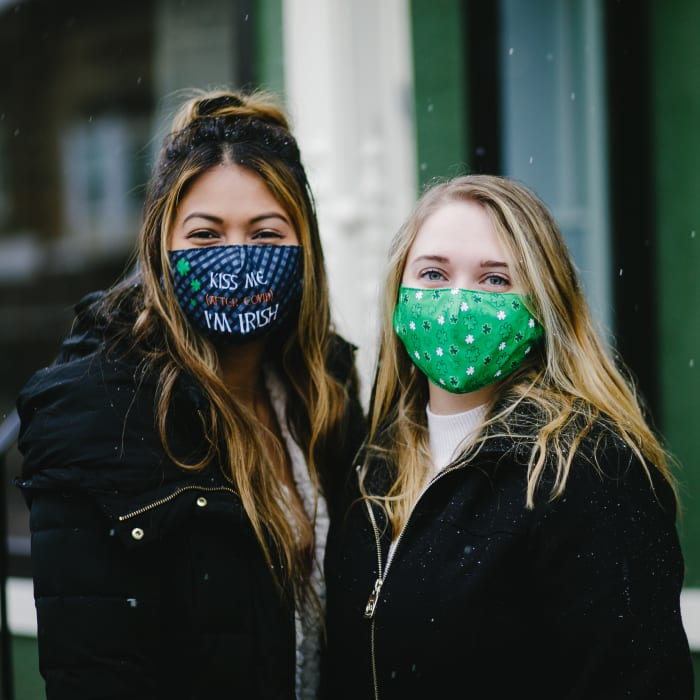 Kiss Me I'm Irish Adult Reusable Fabric Mask