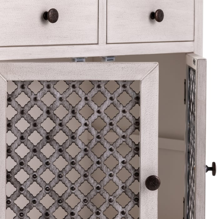 Macy Wood and Metal Cabinet
