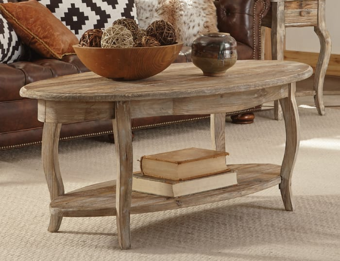 Rustic Reclaimed Oval Coffee Table