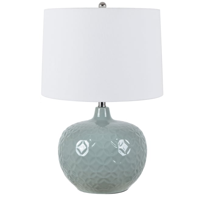 Clover Green Embossed Ceramic Table Lamp