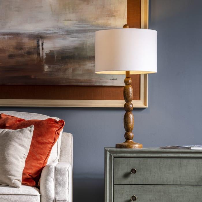 Monroe Brown Resin Table Lamp