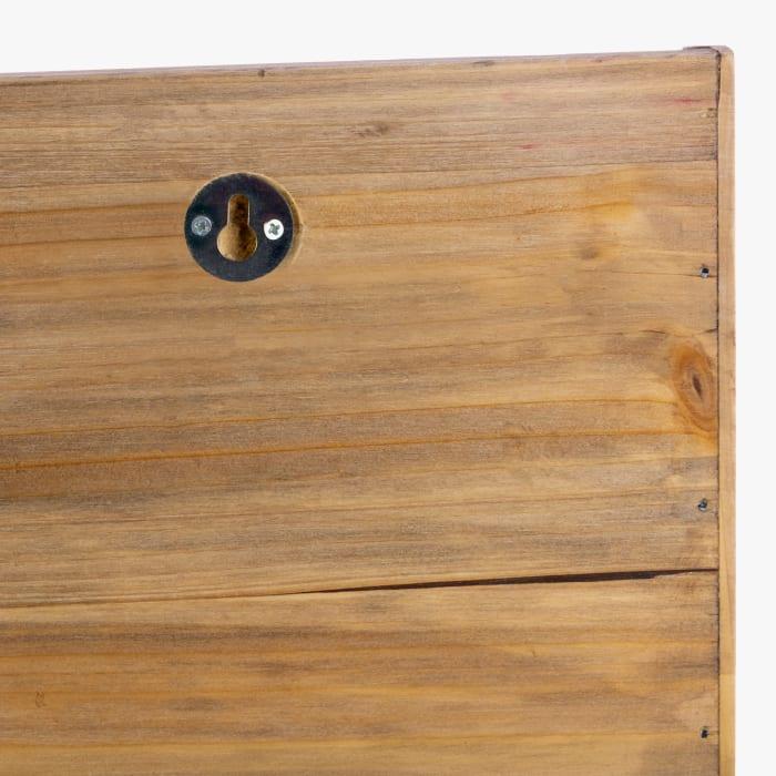 Cantu Walnut Wooden Wall Floating Shelf