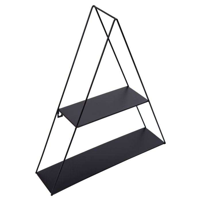 Triangle Black Metal Floating Shelf