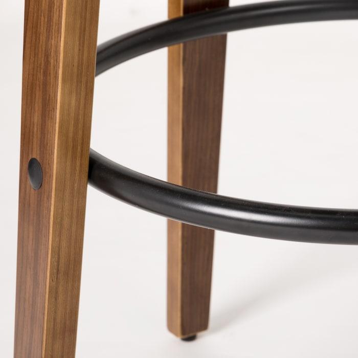 Bamboo Set of 2 Bar Stools and Table