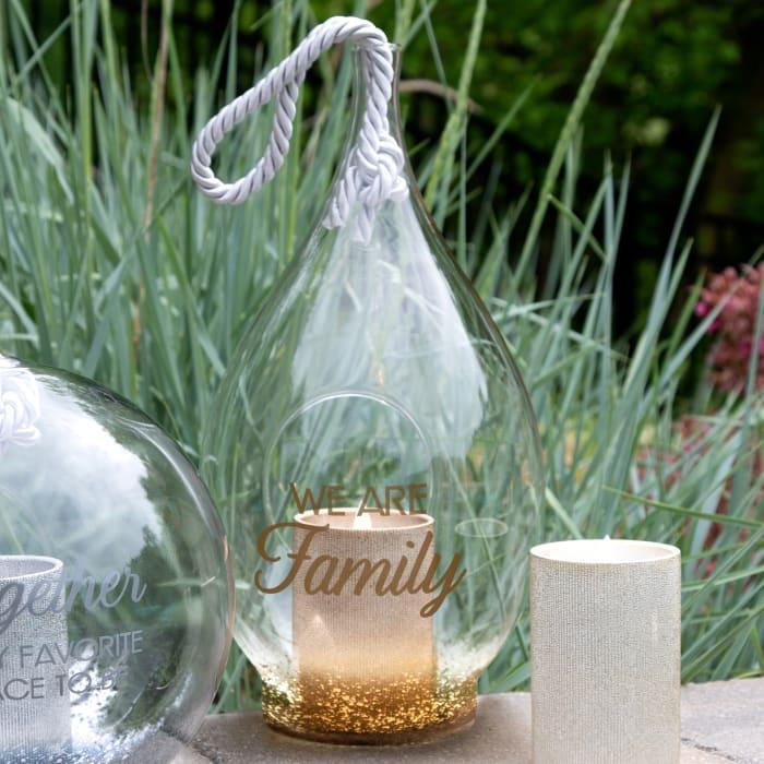 Family Bronze Glass Lantern
