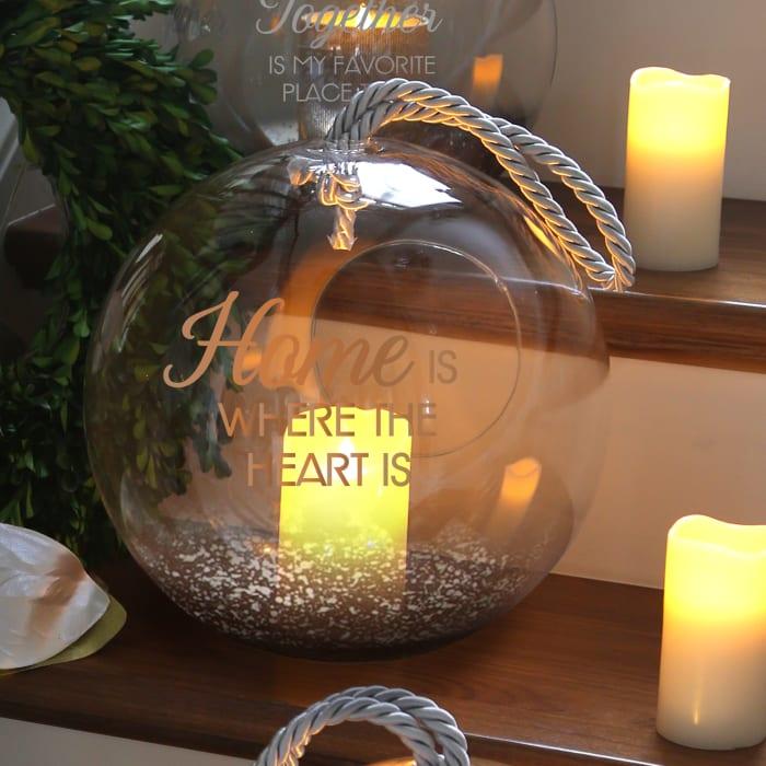 Home Bronze Glass Lantern