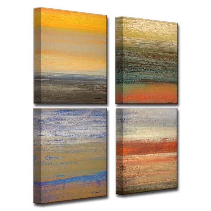 Destiny I-IV Set of 4 Wrapped Canvas Wall Art