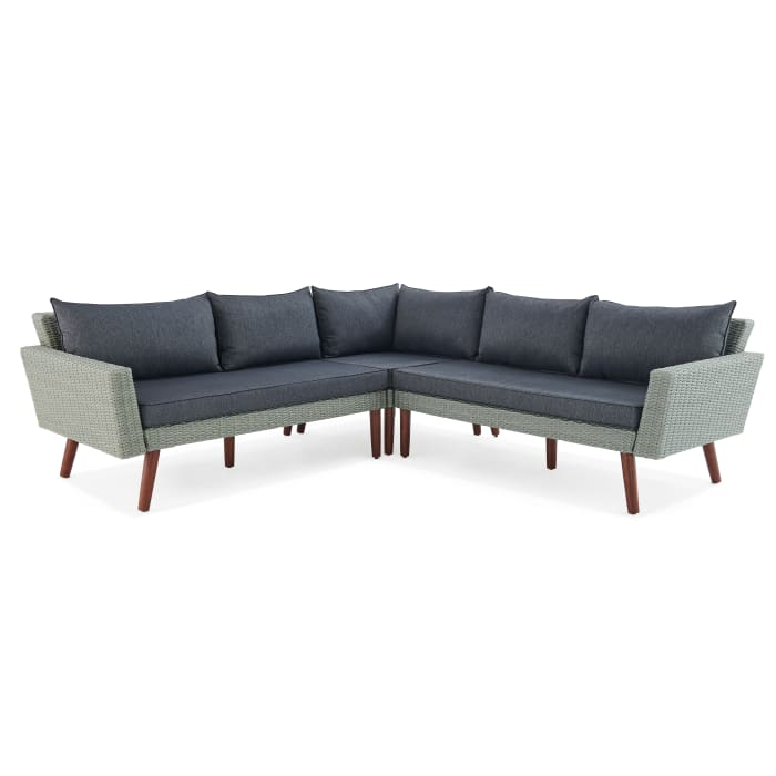 Albany All-Weather Wicker Outdoor Gray Corner Sectional Sofa