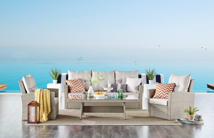 Canaan All-Weather Wicker Outdoor Deep-Seat Patio Set
