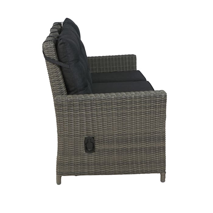 Asti All-Weather Wicker 4-Piece Reclining Sofa Outdoor Patio Set
