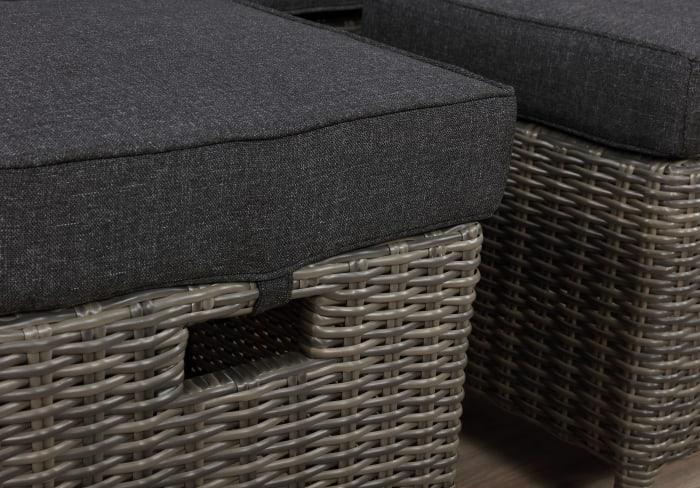 Asti All-Weather Wicker 3 Piece Outdoor Reclining Sofa Patio Set