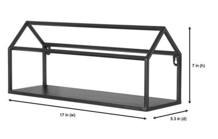 Black Metal House Shape Shelf