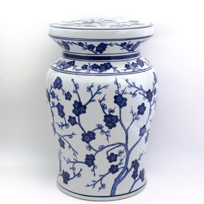 Blue Garden Begonia Podium Stool