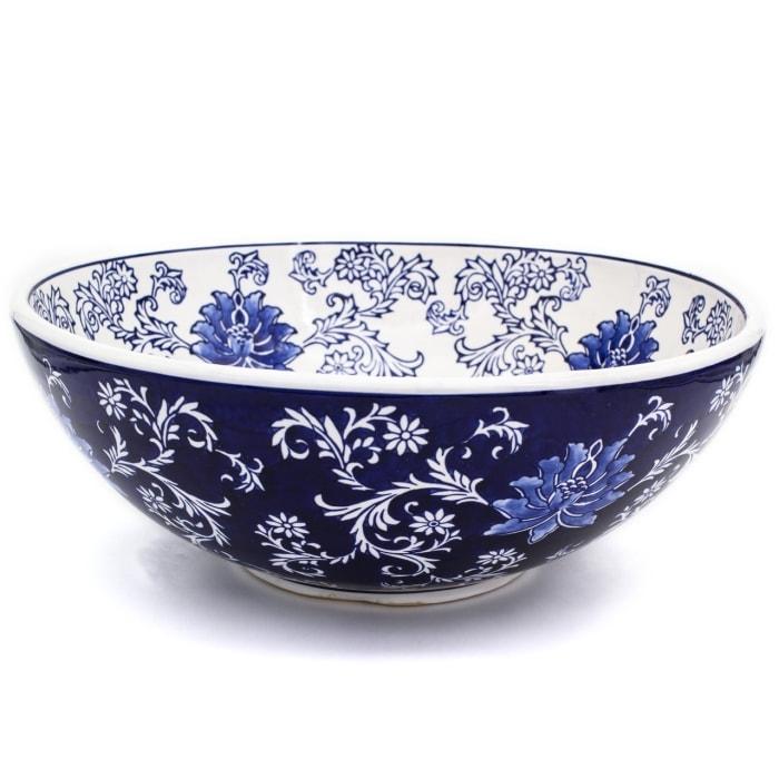 Blue Garden Lotus Fruit Bowl