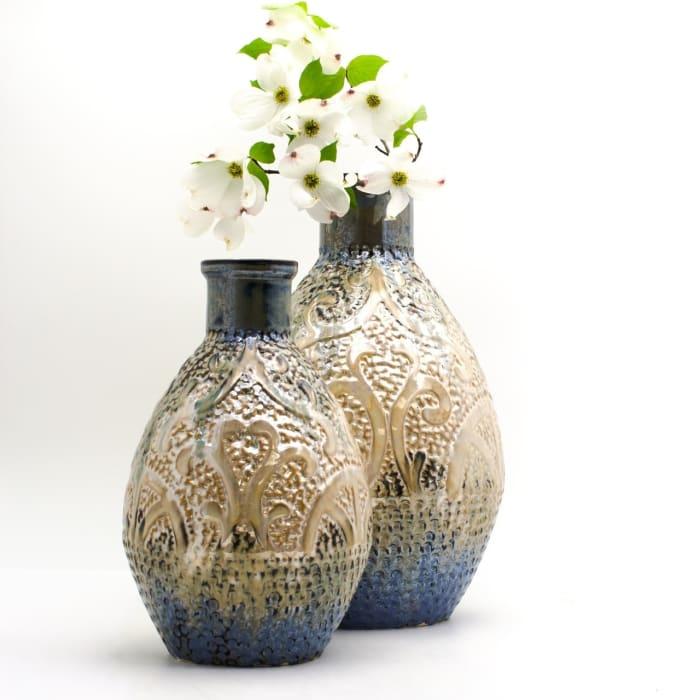 Luxe Cobalt Infinity Flared Globe Vase