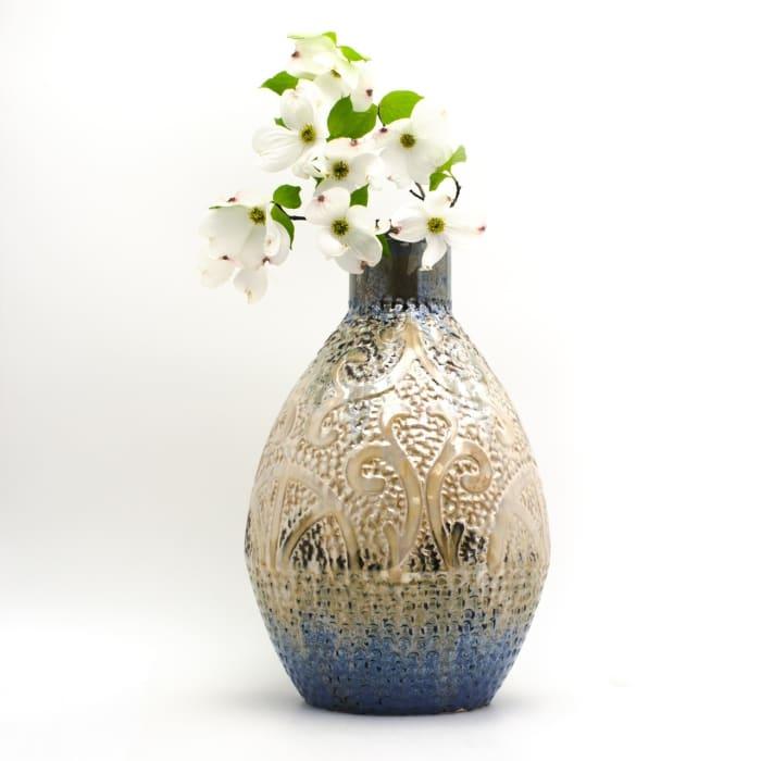 Seaborne Small Reactive Oval Vase