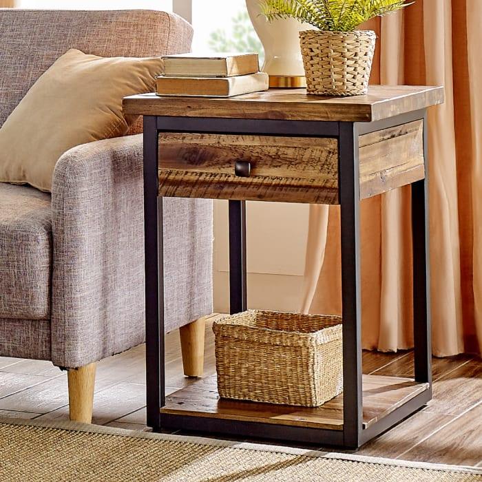 Claremont 3 Piece Rustic Wood Accent Table Set