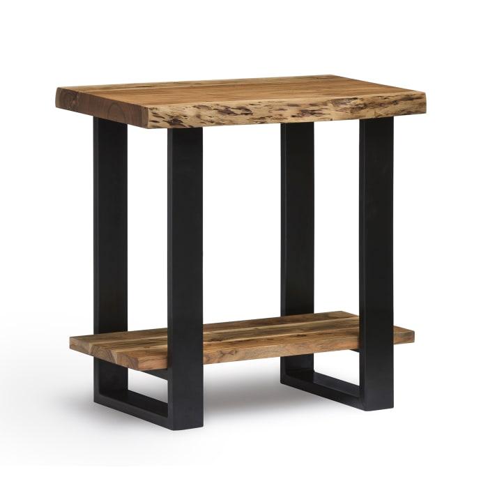 Alpine Natural Live 2 Piece Edge Accent Table Set
