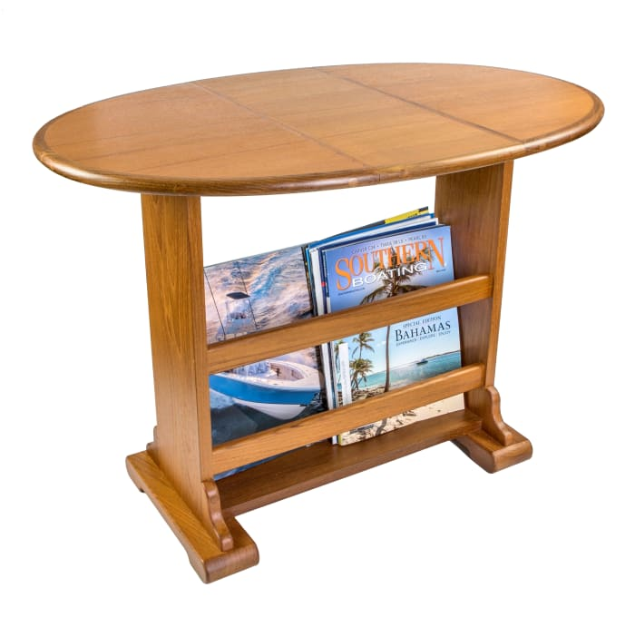 Large Teak Drop-Leaf Outdoor Table