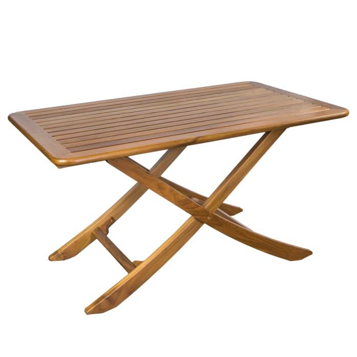 Teak Large Adjustable Slat Top Table