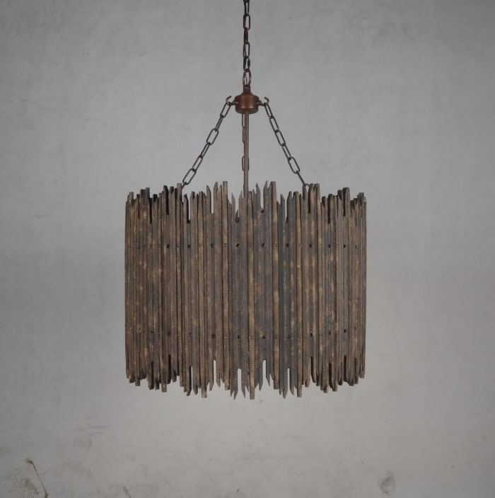 Fixture In Iron and Wood Nell Pendant Light