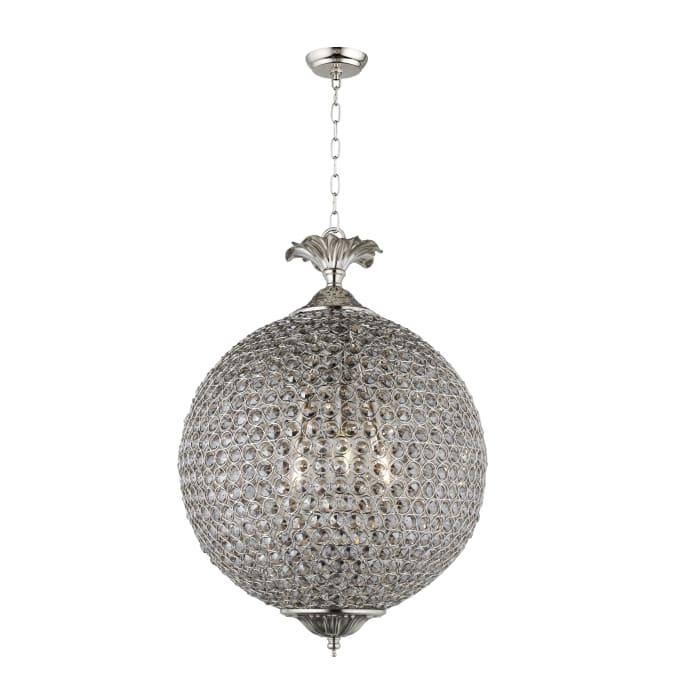 Honore Smoke Glass Bead Globe Pendant Light