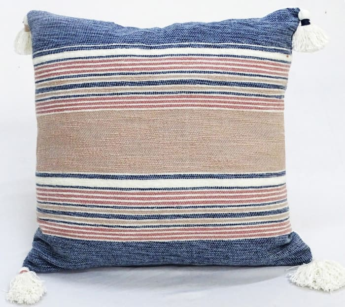 Tassels-Multi Colors Throw Pillow for couch