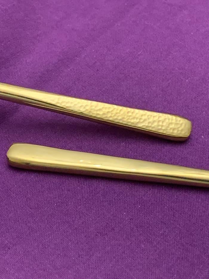 Hammered Golden 6 Piece Dinner Forks