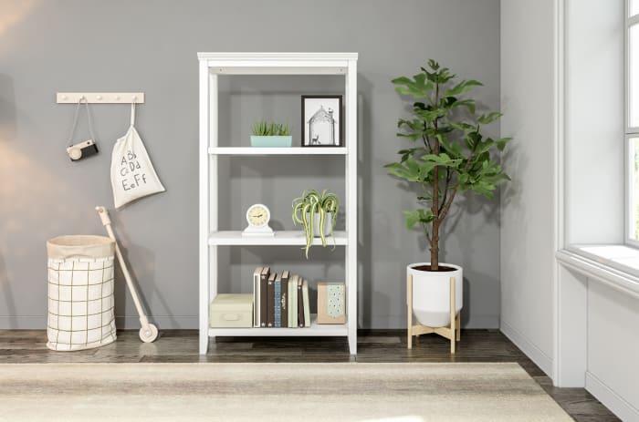 NewRidge White 3-Tier Tall Wooden Bookcase