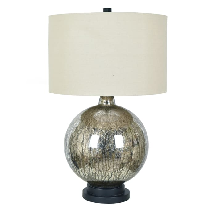 Amias Anitque Mercury Handfinished Glass Table Lamp
