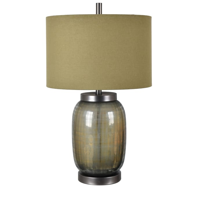 Felix Smoked Olive Glass Table Lamp