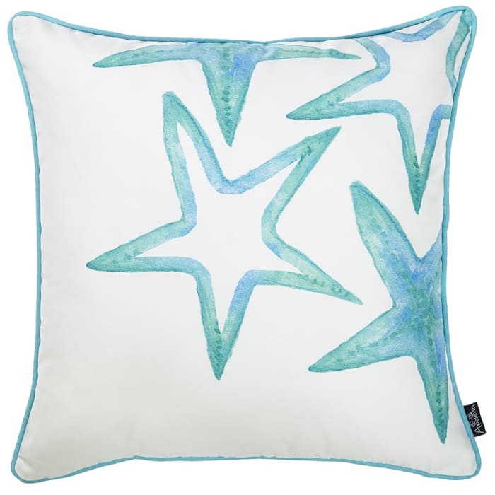 Starfish Decorative Throw Blue Pillow Cover