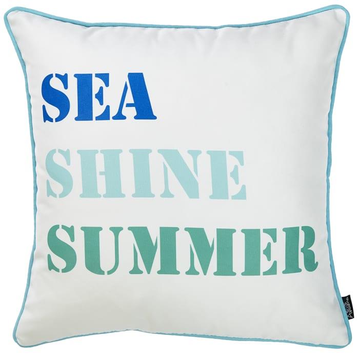 Sea Shine Summer Decorative Throw Pillow Cover