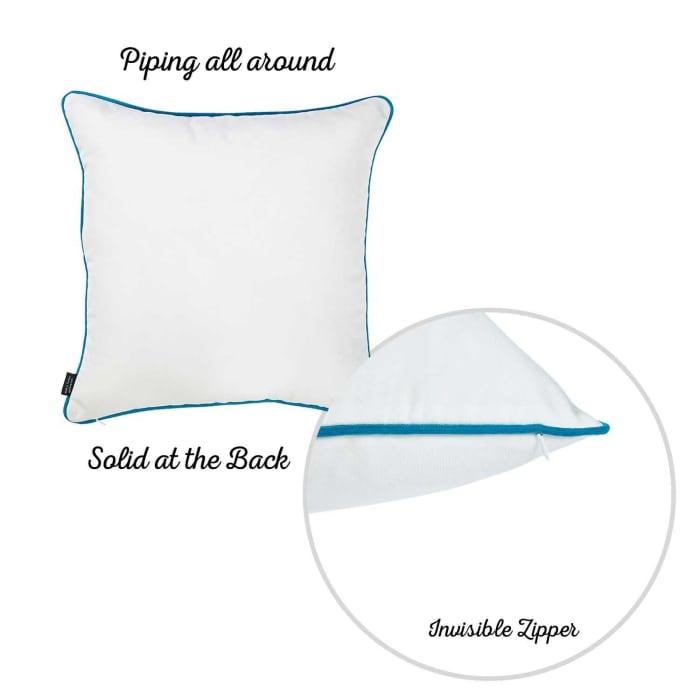 Decorative Throw Watercolor Dragonfly Square Aqua Blue Pillow Cover