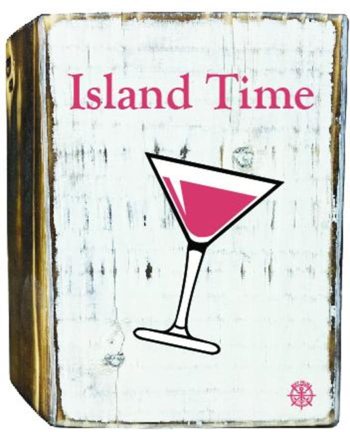 ISLAND TIME MARTINI Wall Accent