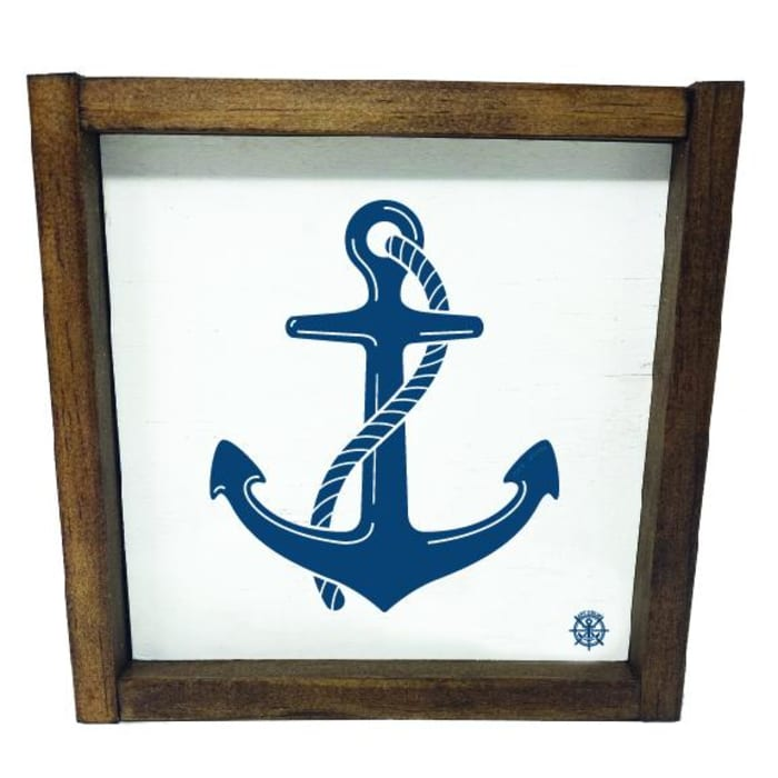 FRAMED ANCHOR Wall Accent