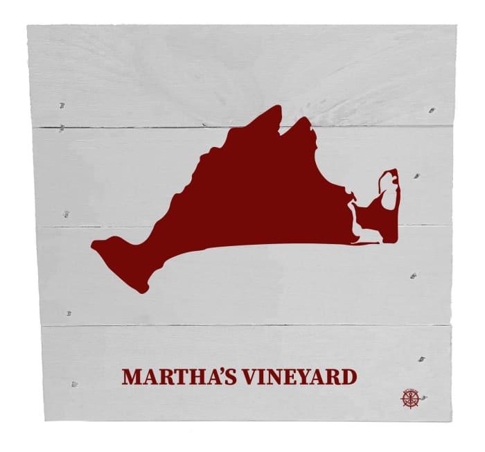 MARTHA'S VINEYARD ON WHITE Wall Accent