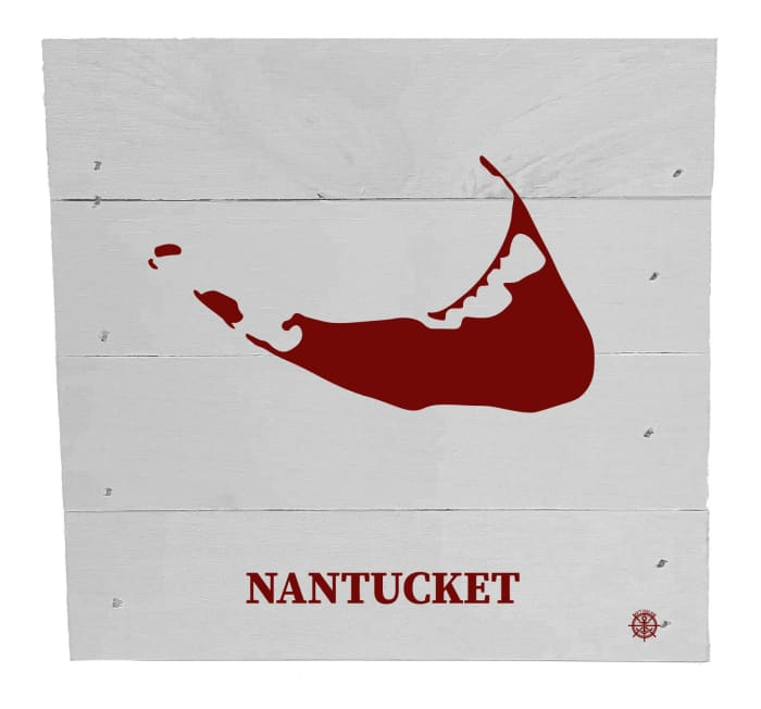 NANTUCKET ON WHITE Wall Accent